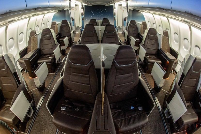 Tour hawaiian airlines new lie flat a330 business class hawaiians new 2 2 2 business class cabin colourmoves