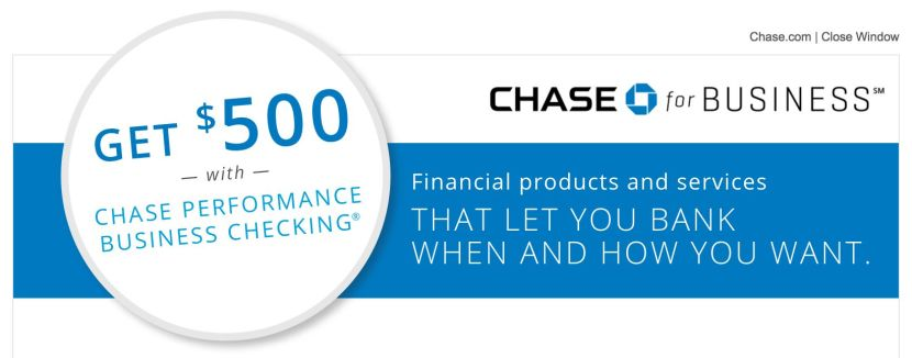 Get $500 When You Open a Chase Business Checking Account