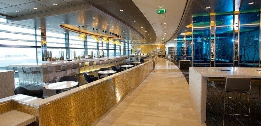 Die United Club Lounge in London.