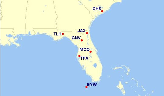 while aa has 122 destinations from mia just 9 routes are eligible under the new