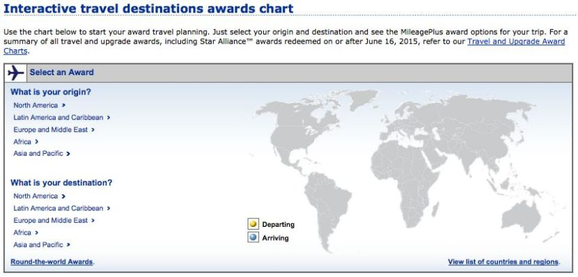 United Has An Interactive Award Chart That You Can Check For Particular Routes