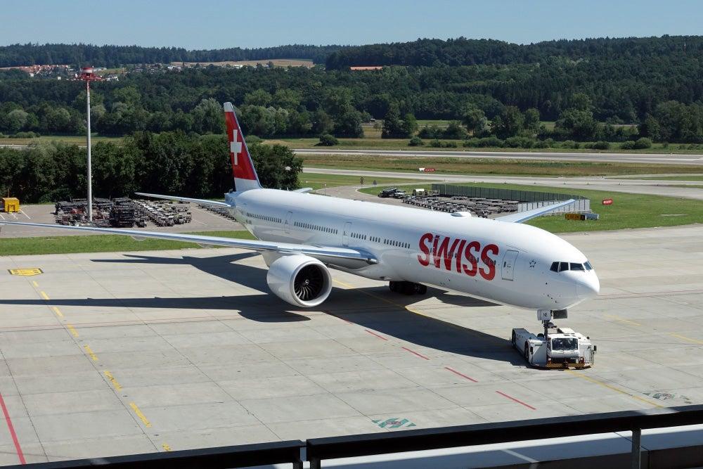 Swiss air 777-300 business class