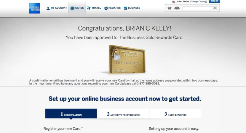 screen shot 2016 09 15 at 124600 pm i was instantly approved for my second business gold rewards card - Business Gold Rewards Card