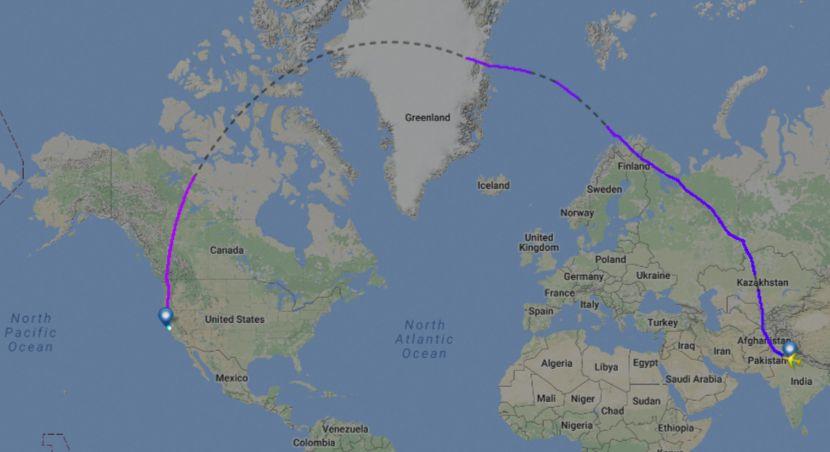 india 173 air delhi sfo flight to