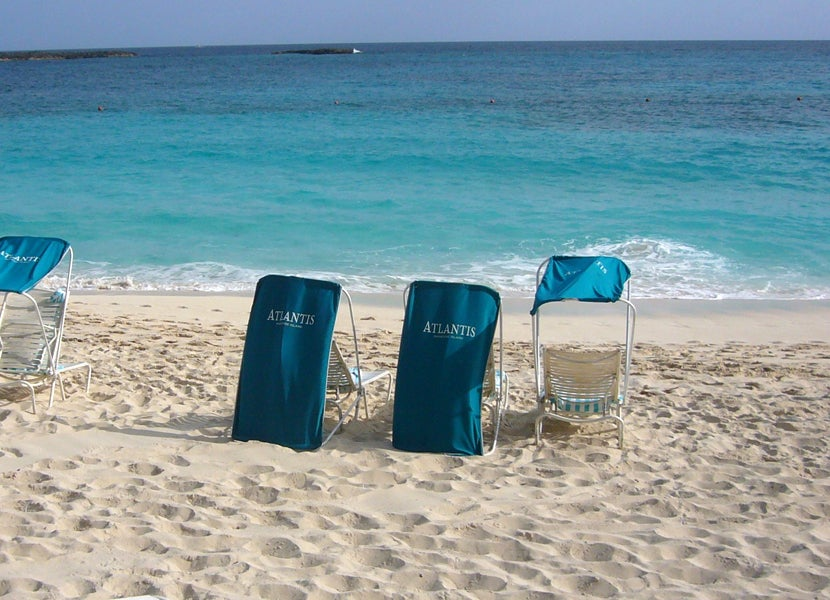 The Covered Chairs Are Great When Sun Is Shining On Beach