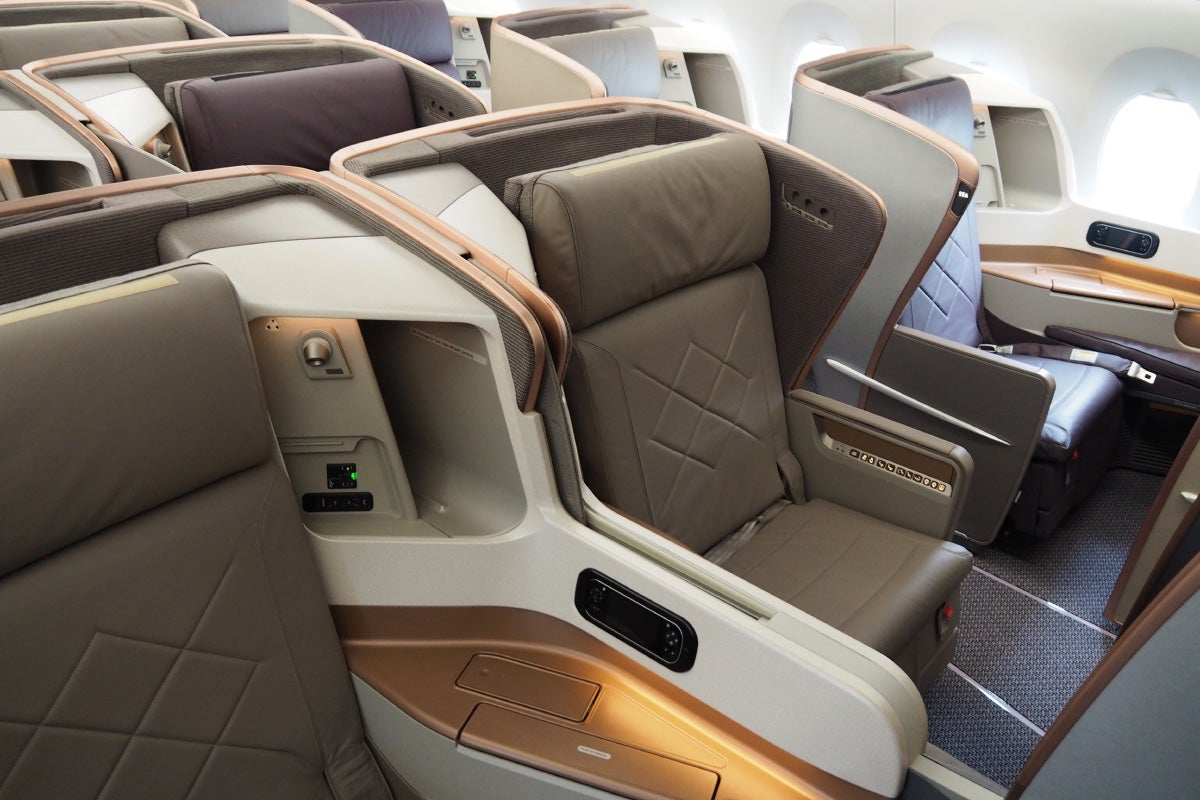Where To Sit In Singapore Airlines A350 Business Class