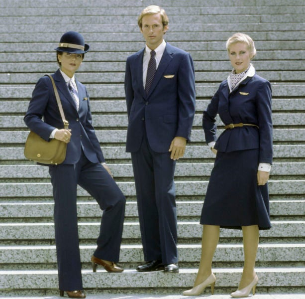 A Brief History Of Flight Attendant Uniforms In Pictures