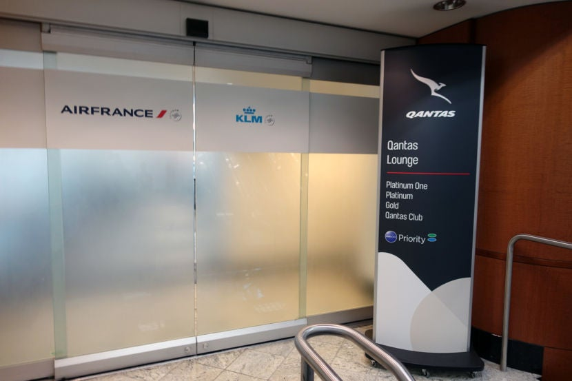 After Security I Headed To The Air France Klm Lounge Which Was Also Labeled As A Qantas Because M Oneworld Shire Member