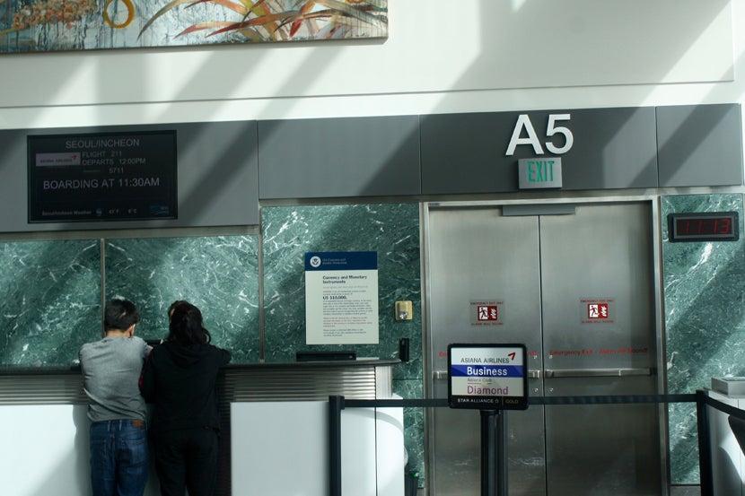 Gate a5 sfo