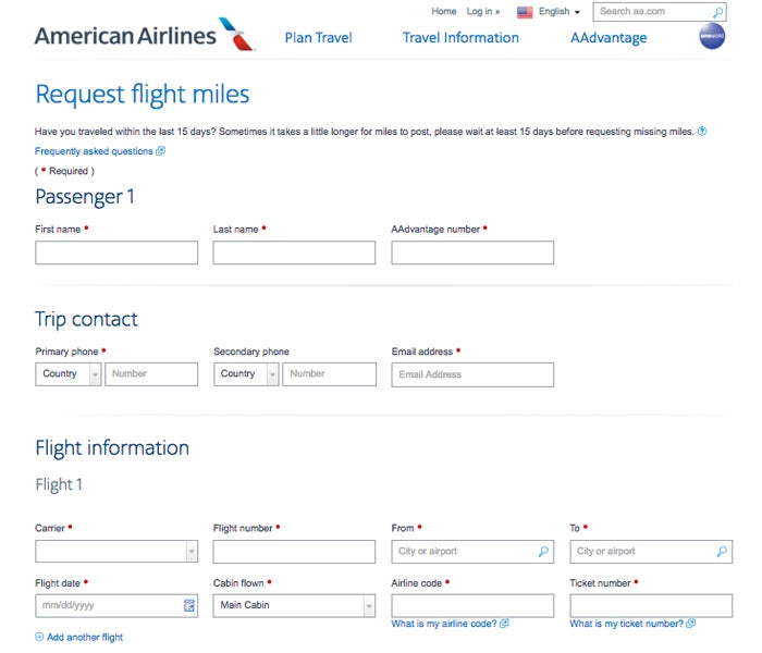 Claim Your Missing American Miles for 2016 Flights