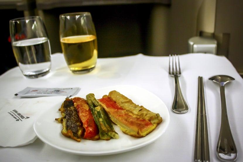 Flight review asiana 777 200er business sfo to seoul for Asiana korean cuisine restaurant racine