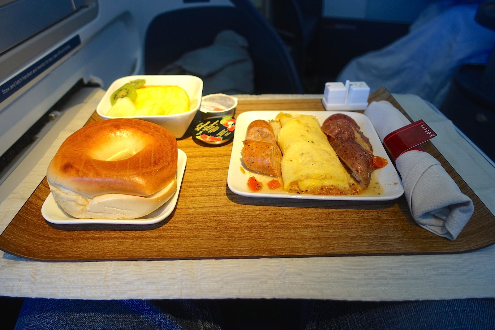 free the flight attendants served breakfast about minutes into the flight after which point i. Black Bedroom Furniture Sets. Home Design Ideas