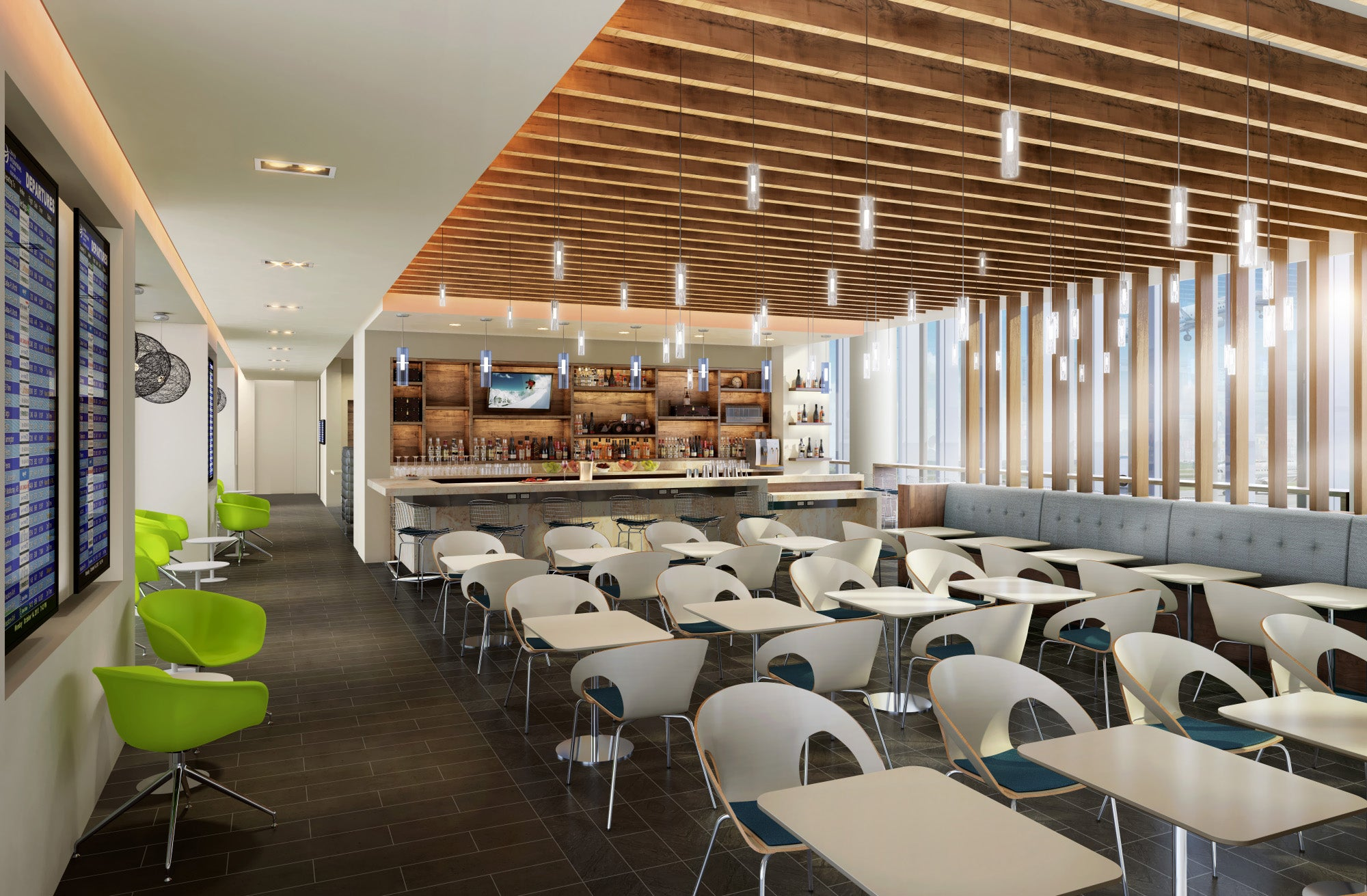 A Rendering Of The New Philadelphia Centurion Lounge