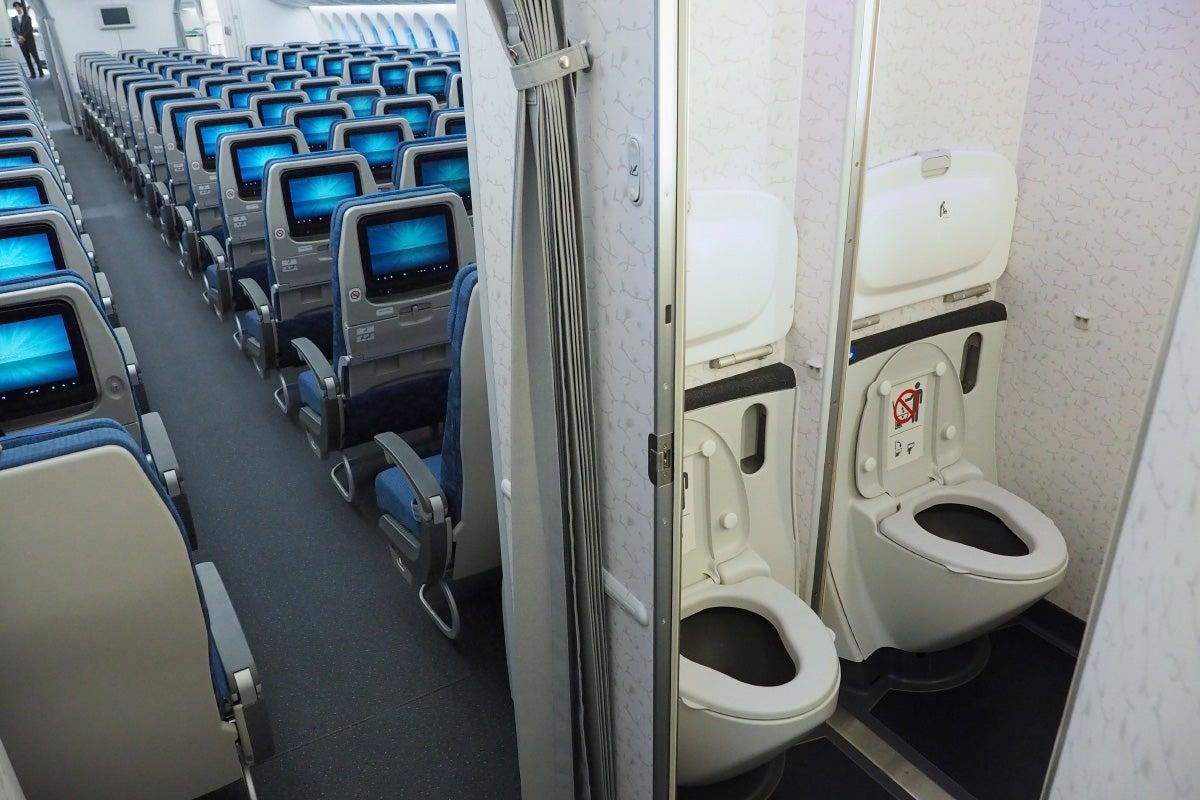 Handicap Bathroom Airplane where to sit when flying korean air's 787-9: economy