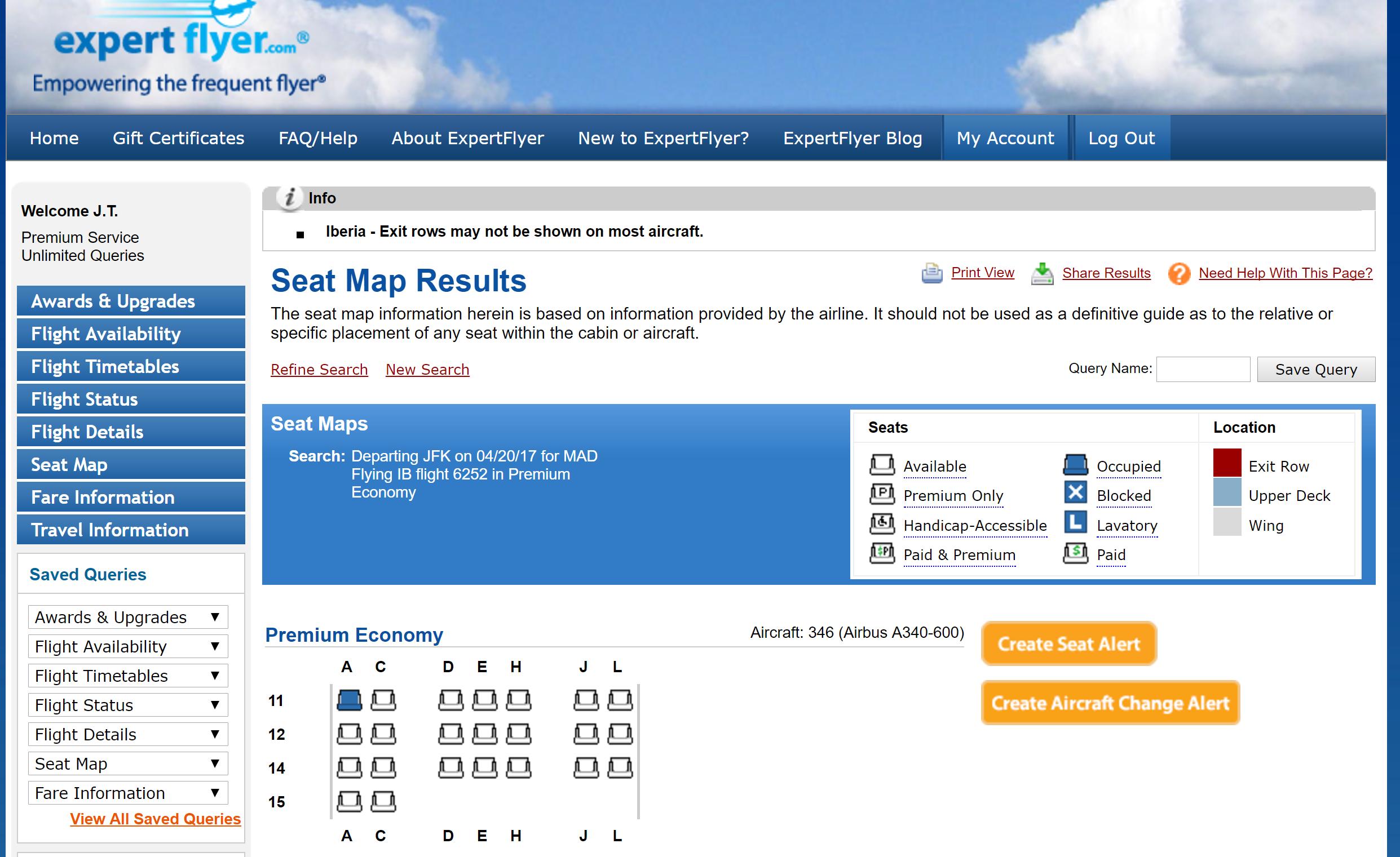 Flight status jfk - Expertflyer Seat Map Jfk Mad