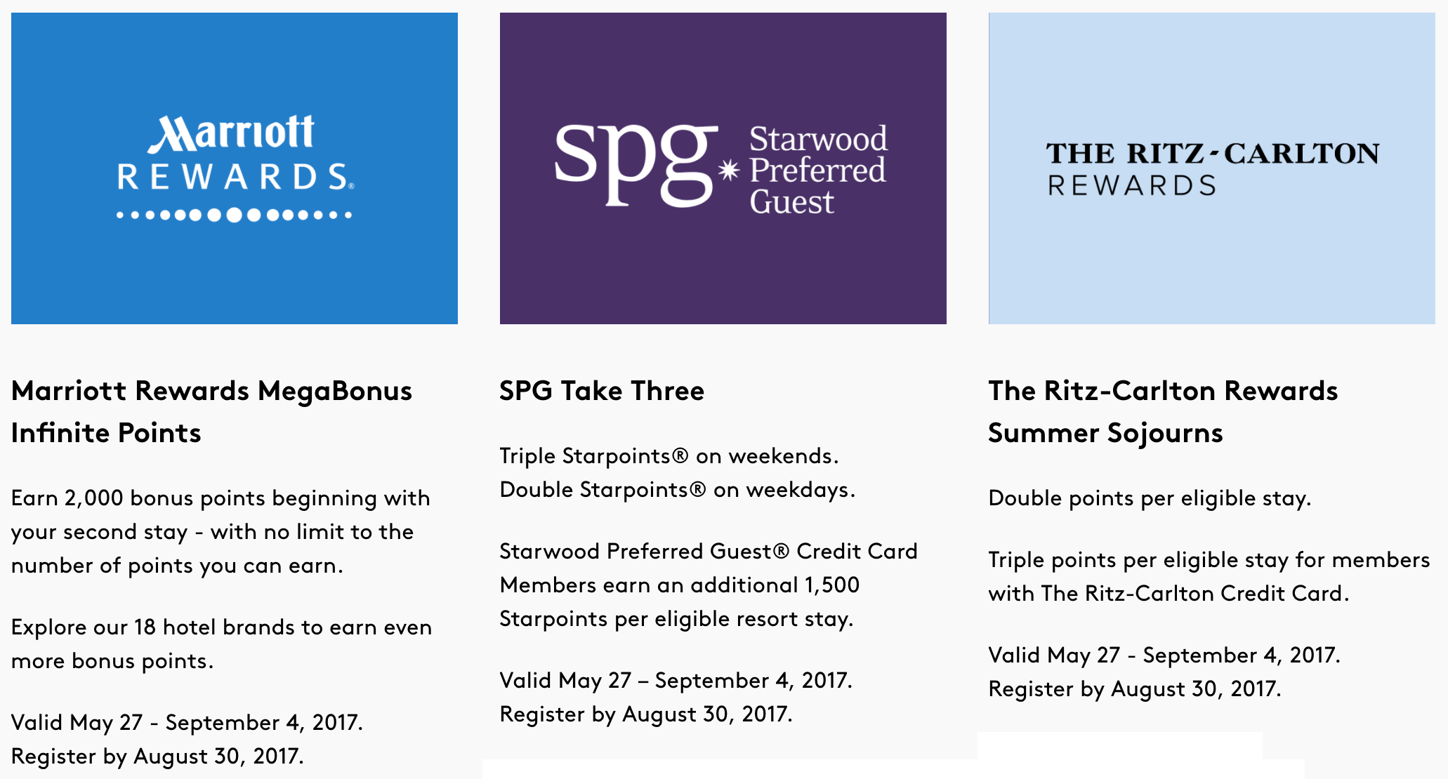 earn bonus points with marriott ritz carlton and starwood