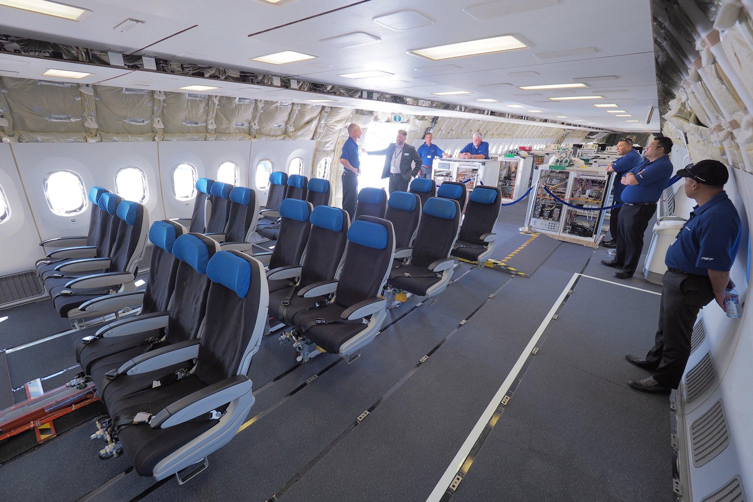 First Look Inside Boeing S Extended Length 787 10 Dreamliner