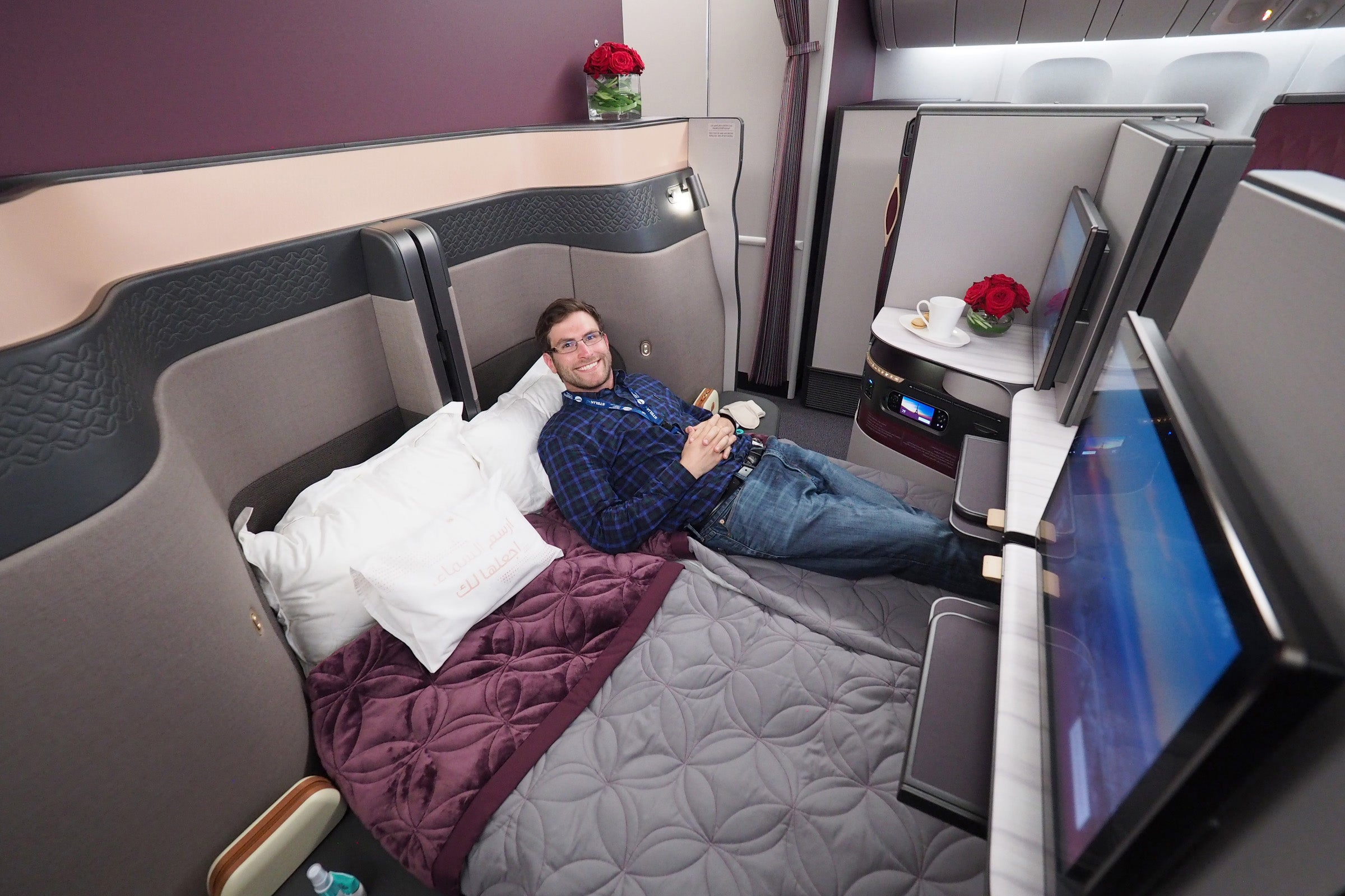 Apartment Layout First Look Qatar Airways Qsuite Business Class