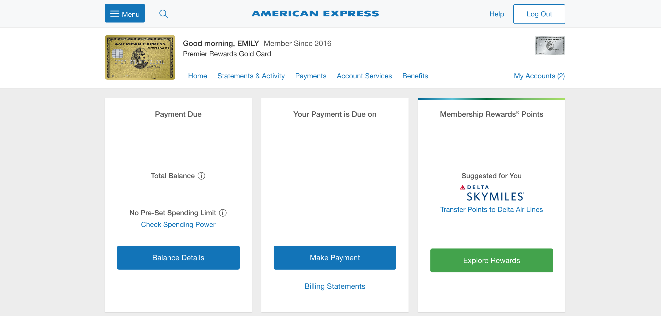 American Express Launches New Account Dashboard