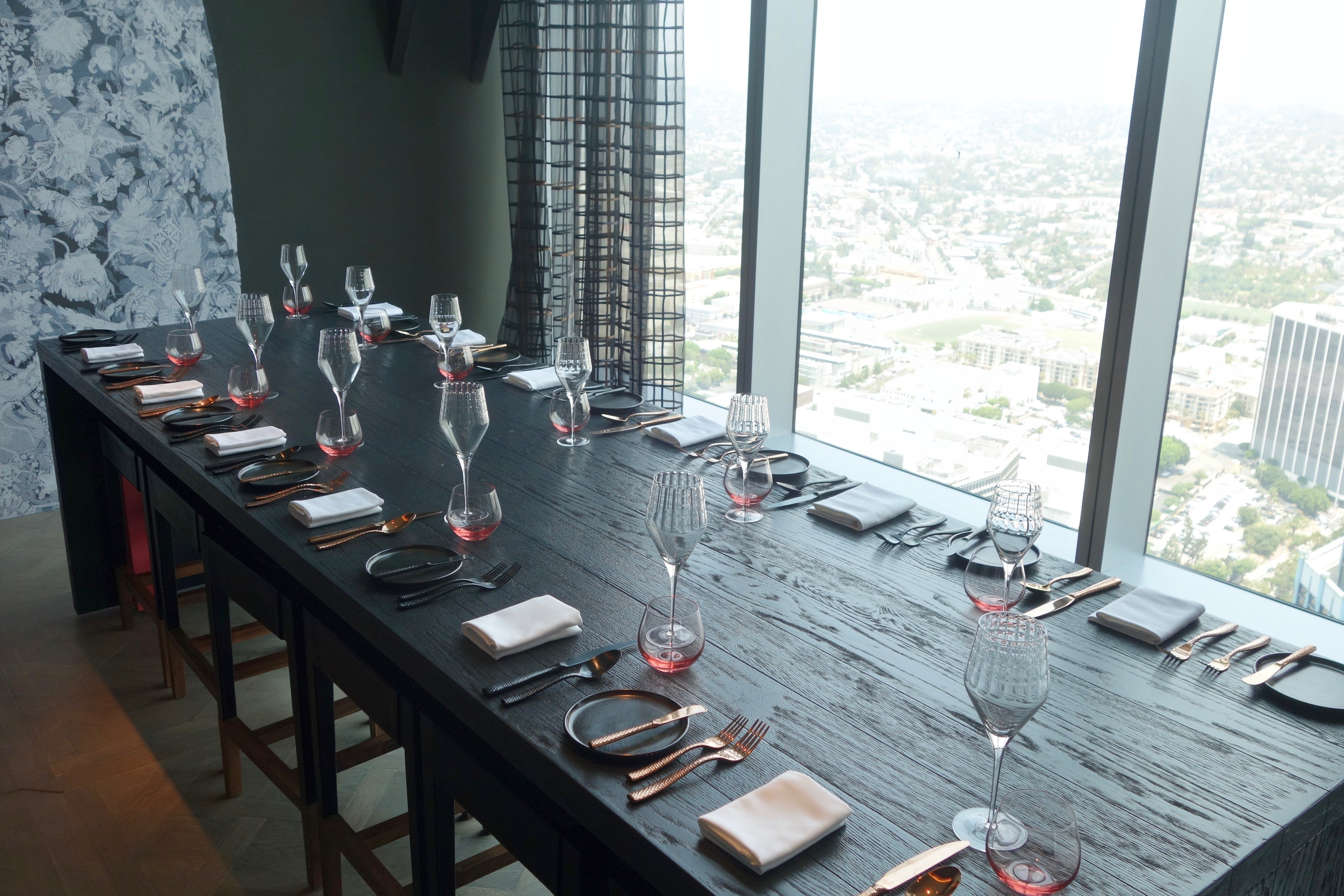 First look the intercontinental los angeles downtown for Best private dining rooms los angeles