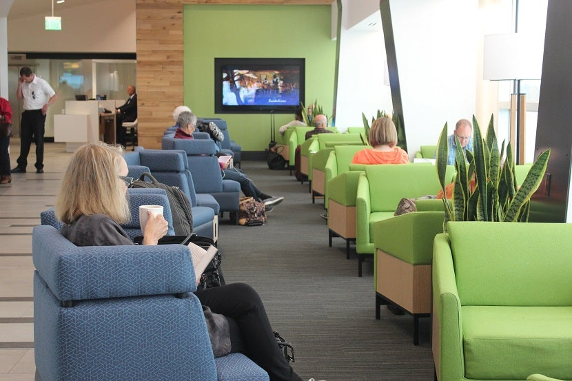 Review the new alaska airlines lounge in seattle sea for Furniture guy seattle