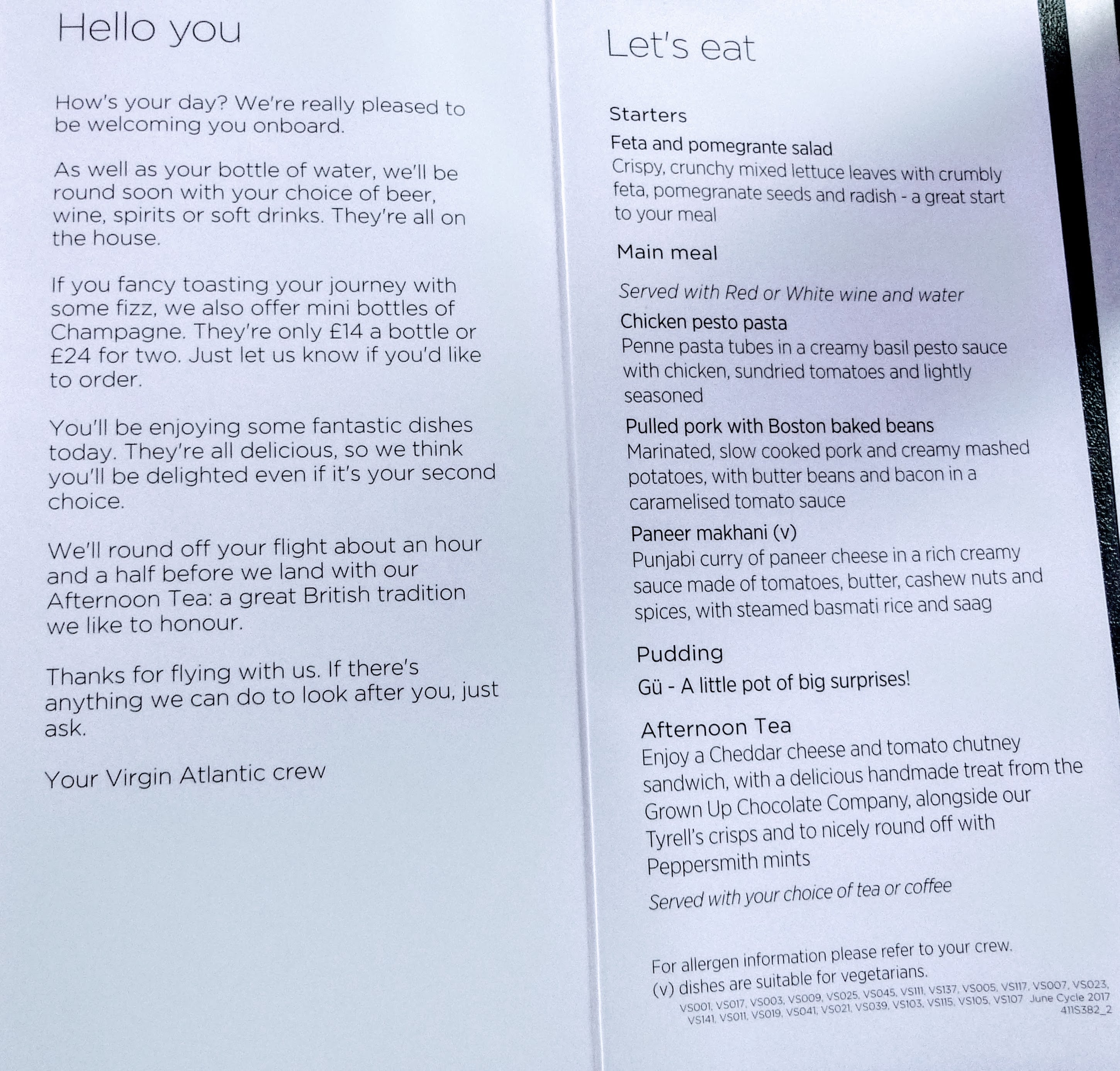Flight review virgin atlantic 787 9 economy lhr to jfk img virgin menu reheart Images