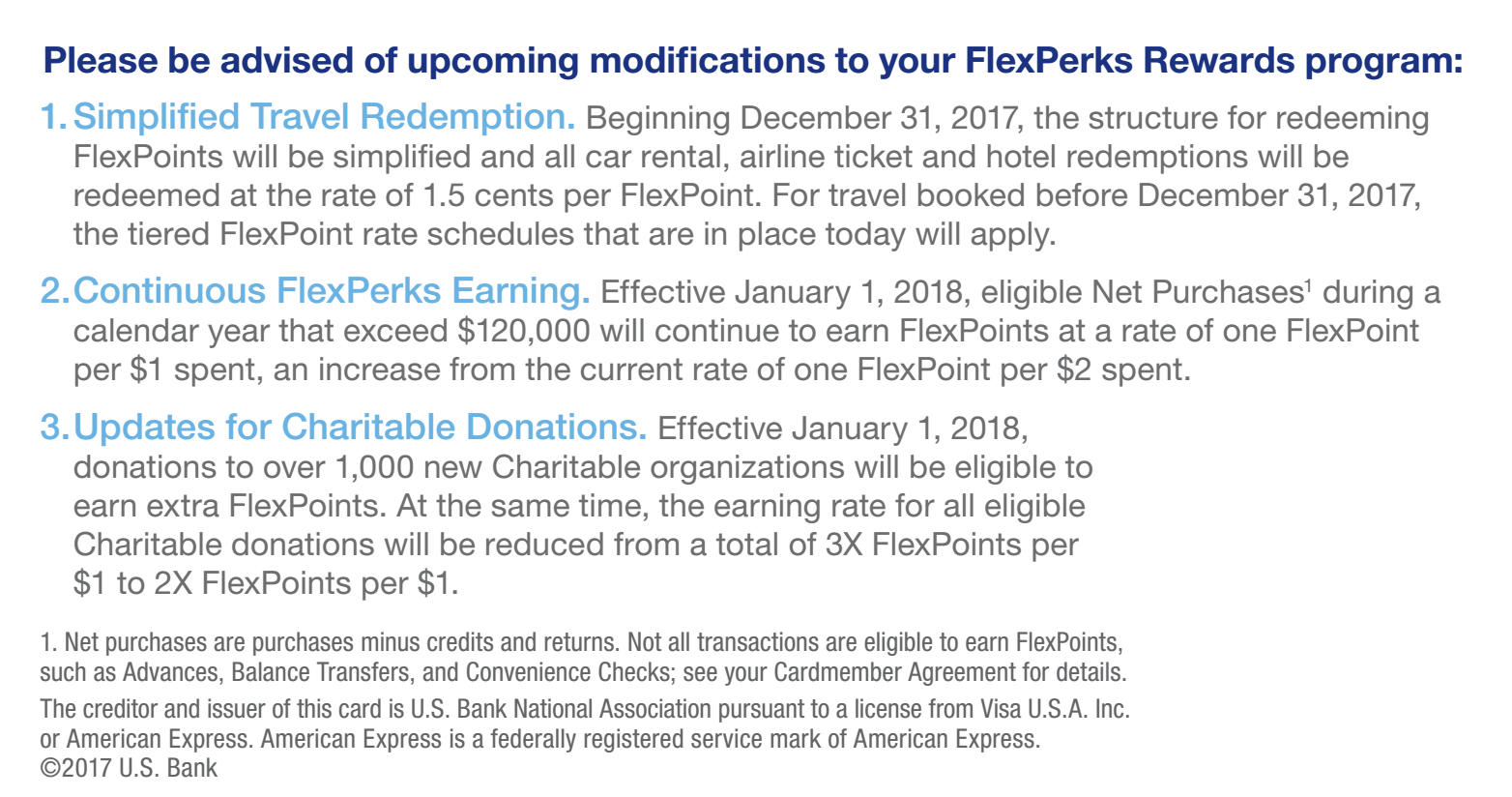 Us Bank Changing Flexperks Rewards In 2018