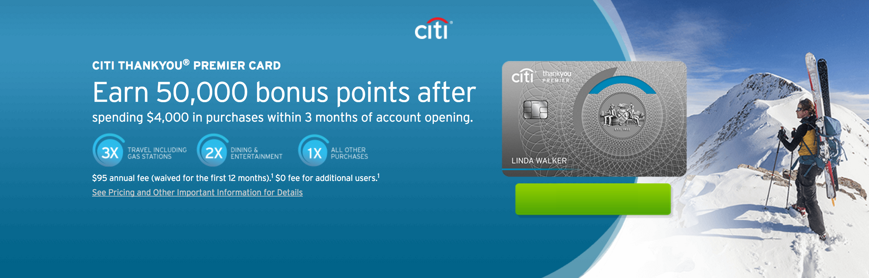 get 50000 points with the citi thankyou premier card