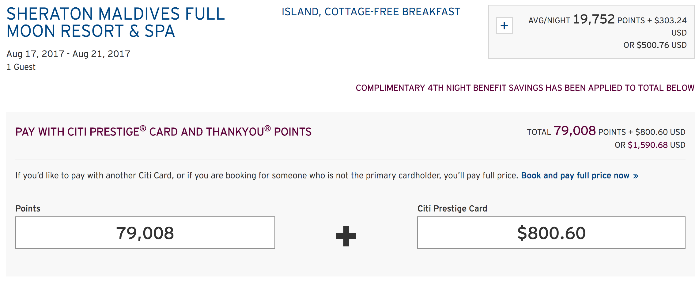 Your guide to booking citi prestige 4th night free stays screen shot 2017 08 02 at 101537 am expocarfo Images