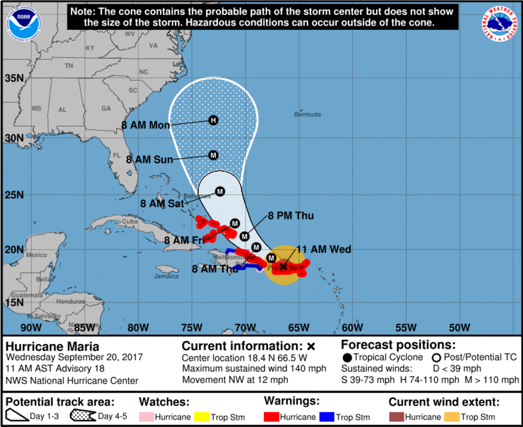 maria makes landfall in puerto rico airlines expand waivers
