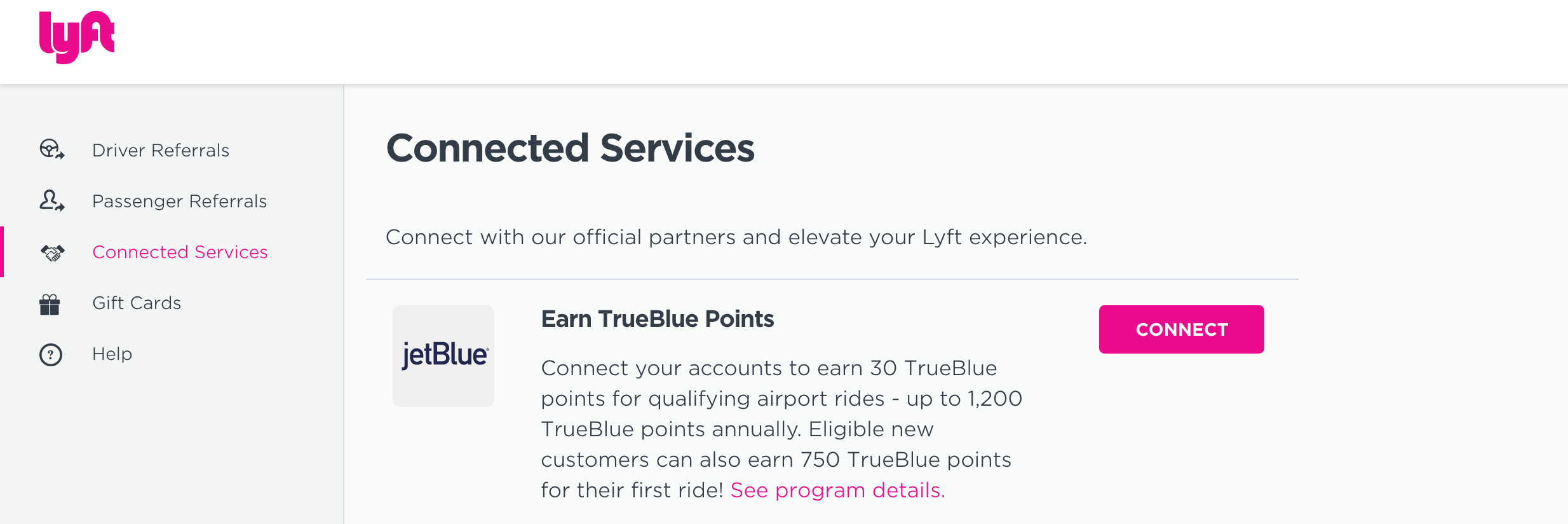 Tip Link Your JetBlue and Lyft Accounts for Bonus Points