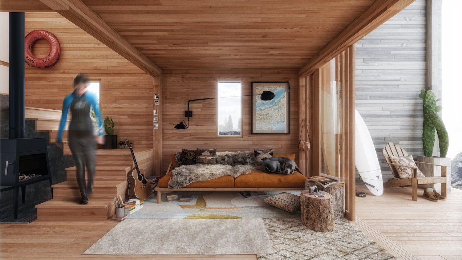 this flat pack surf shack can be set up anywhere. Black Bedroom Furniture Sets. Home Design Ideas