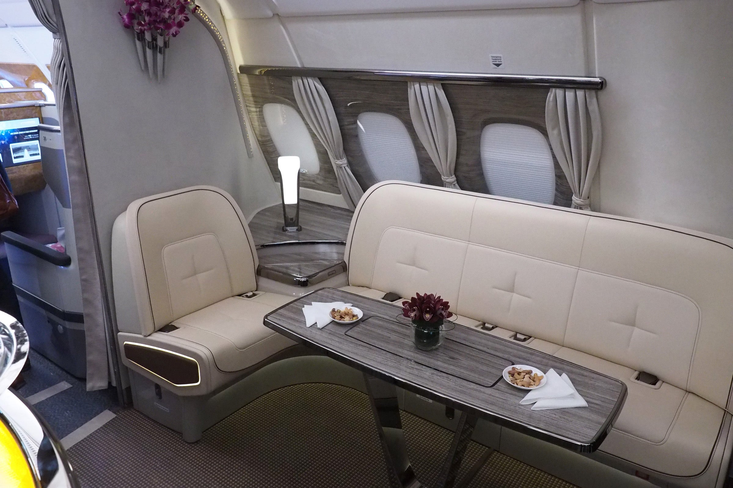 Check Out Emirates Fancy New Airbus A380 In Flight Bar