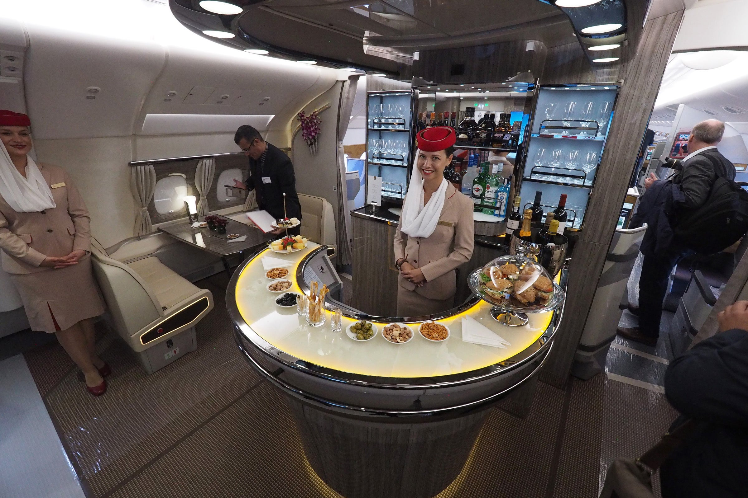 Check Out Emirates' Fancy New Airbus A380 In-Flight Bar