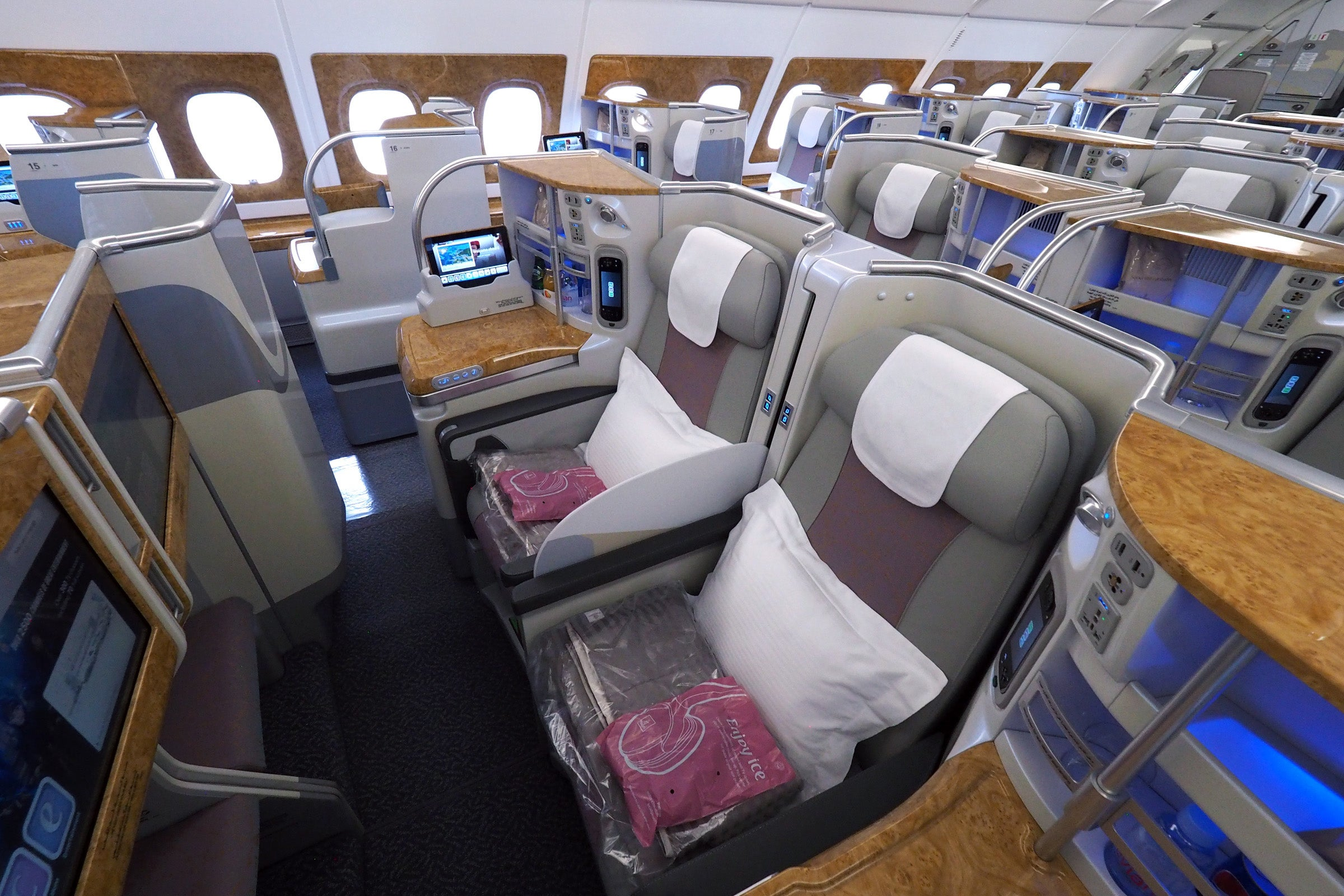 Emirates 100th A380 Tour Economy Business First Cl Suites