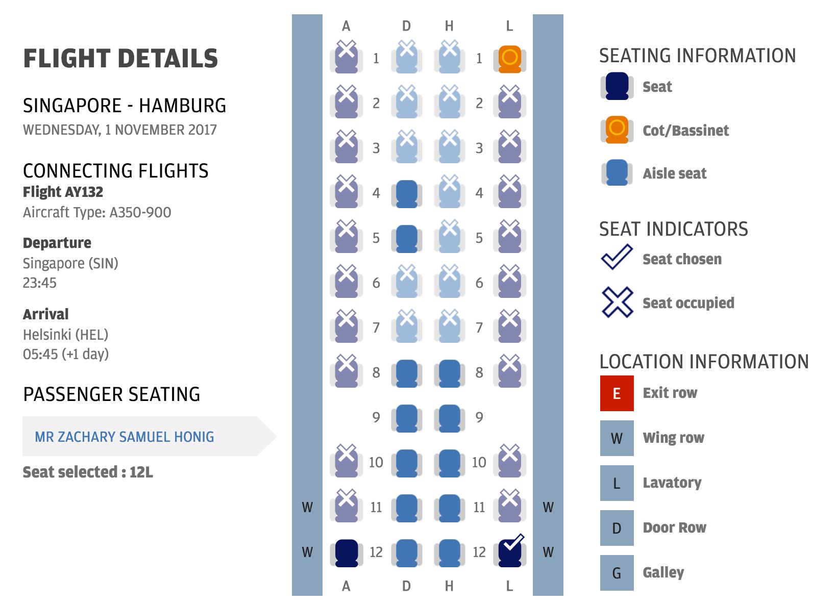 Review: Finnair (A350) Business Class Singapore to Helsinki