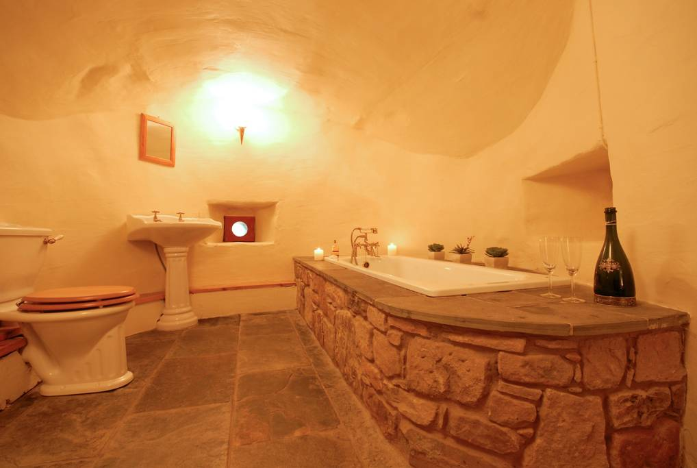 The Cavernous, Stone Bathroom Pictured Below Helps Visitors Remove  Themselves From Their Stressful Lives, Reminding Them That Relaxation Is  Only, Ahem, ...