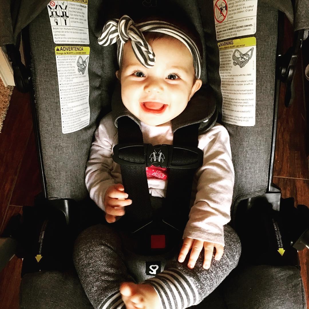 Happy In Her Doona At Six Months