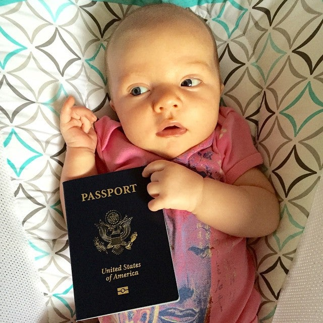Best one month birthday present ever...freedom to travel.