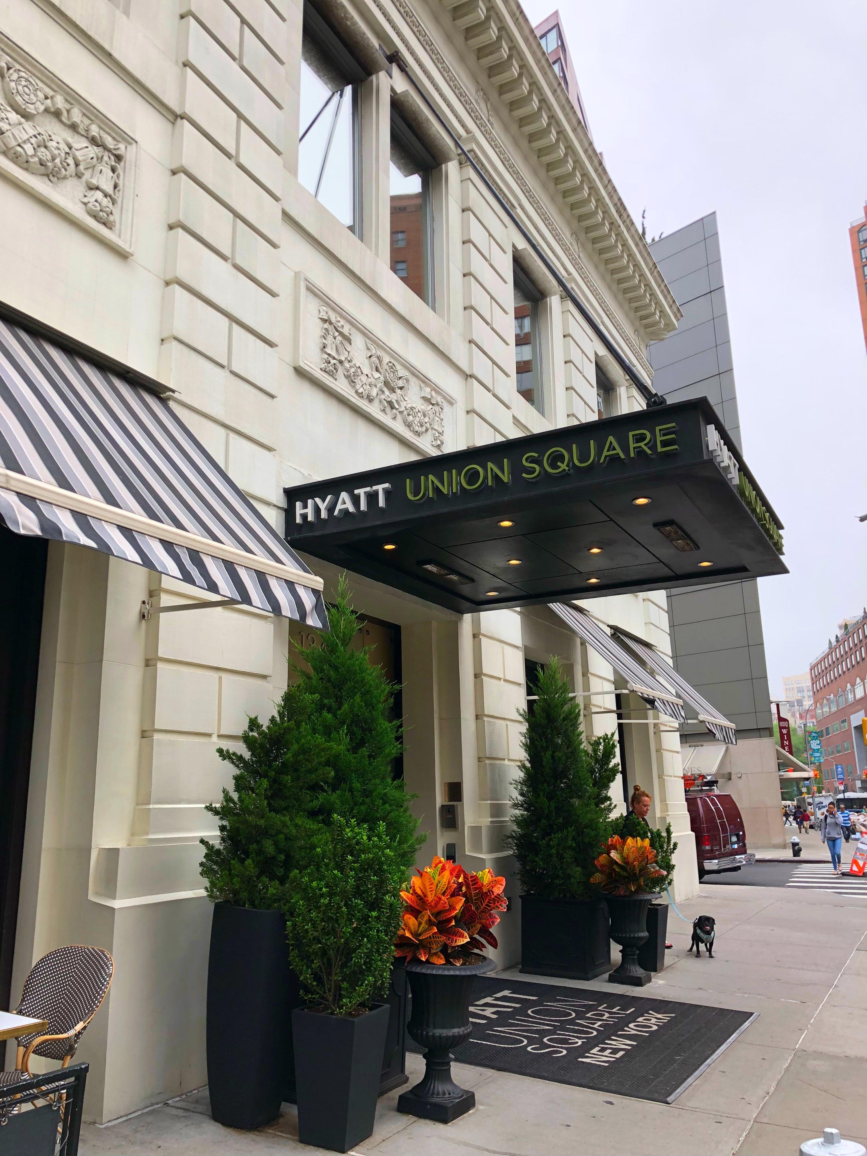 Hyatt Union Square New York Review: Inviting Hotel Below