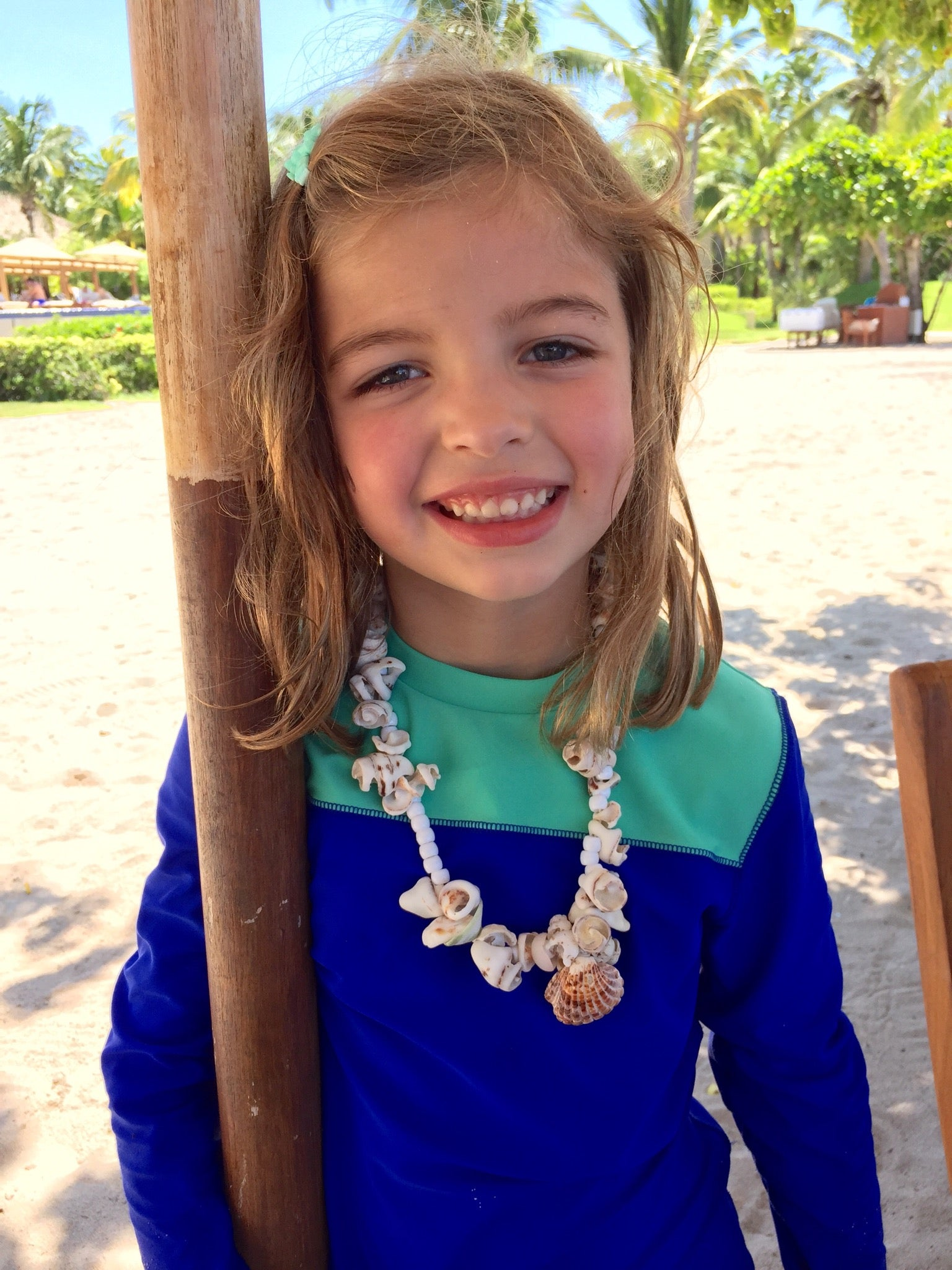 Our daughter loved making necklaces at the free St. Regis Punta Mita Kid