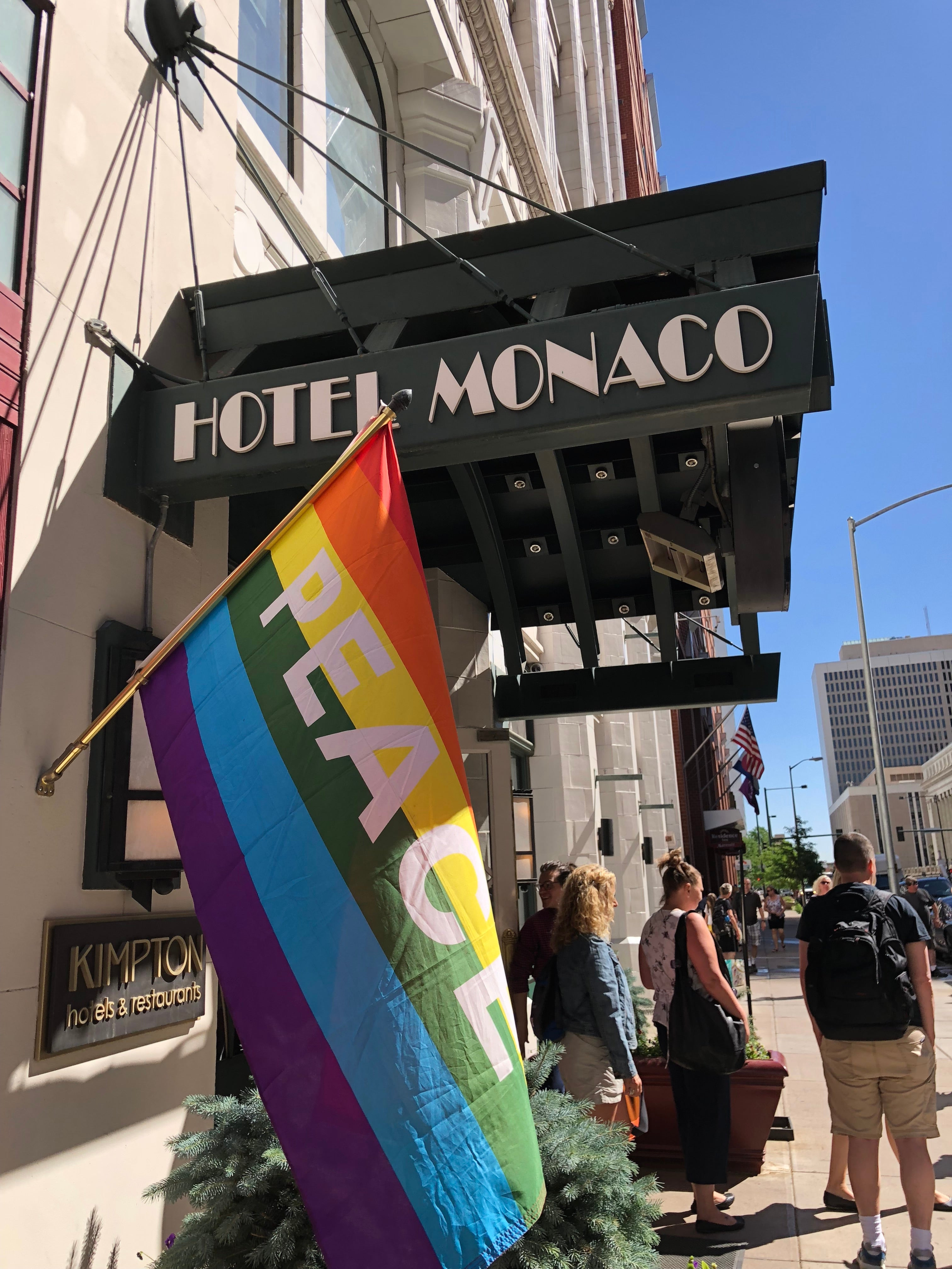 The Hotel Monaco Denver Is Located At 17th And Champa Street In Downtown A Former Railway Exchange Building When We Pulled Up Walked Through