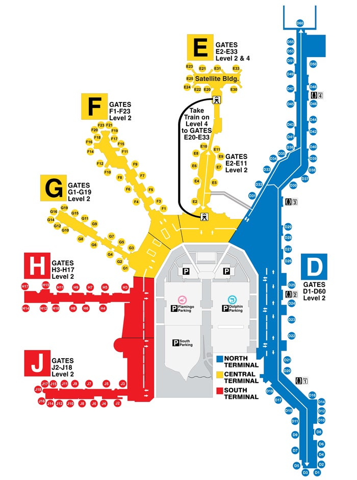 Miami Airport Map Visiting the Miami Amex Centurion Lounge When Flying From Other  Miami Airport Map
