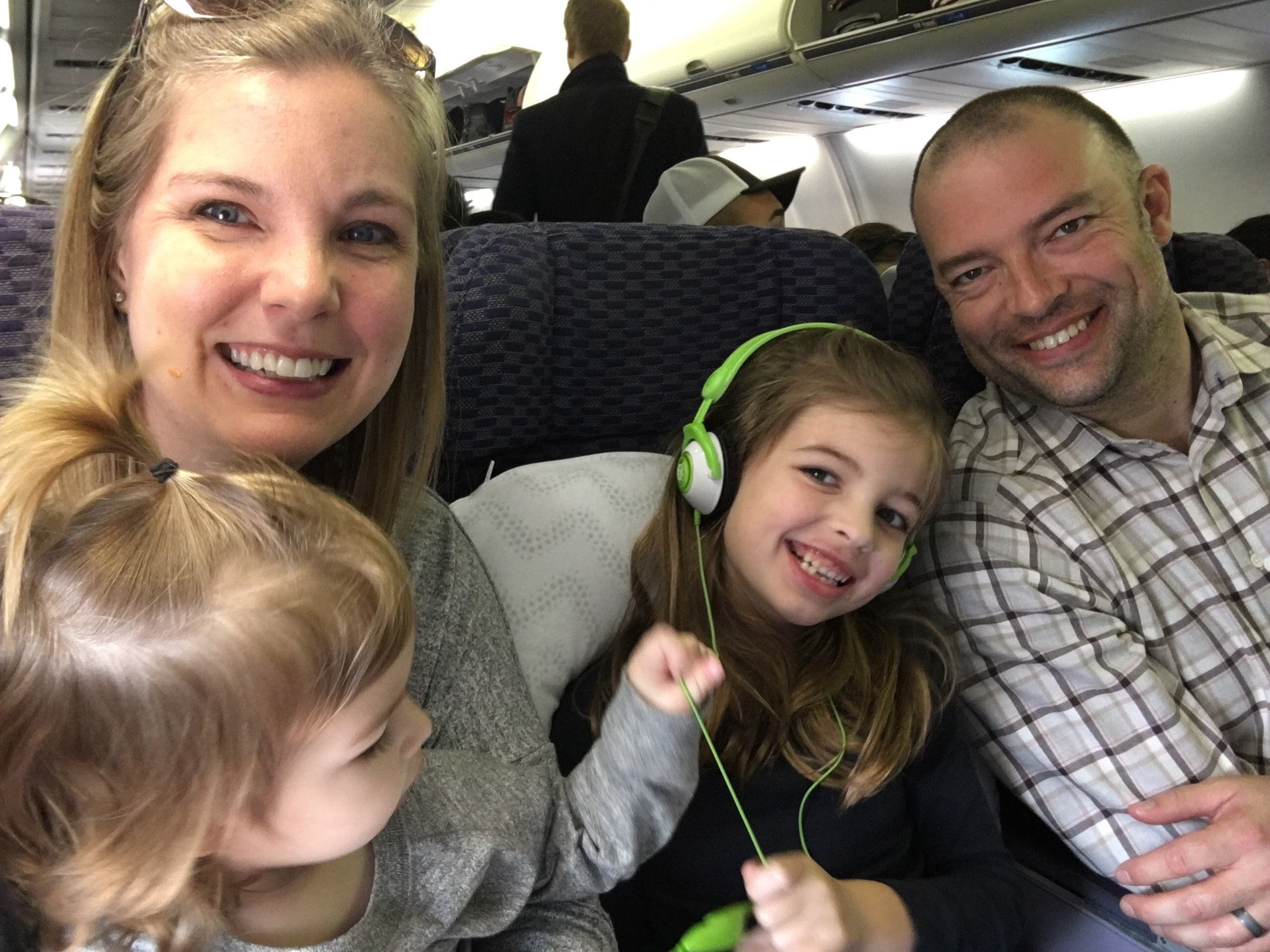 No chilling on the flight with little kids!