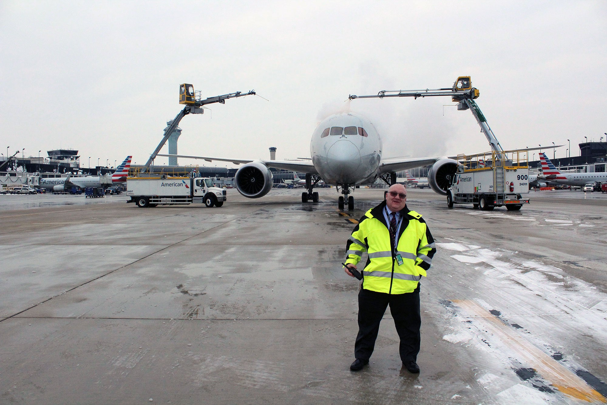 Behind the Scenes With American Airlines  De-icing Operations 114b465336369