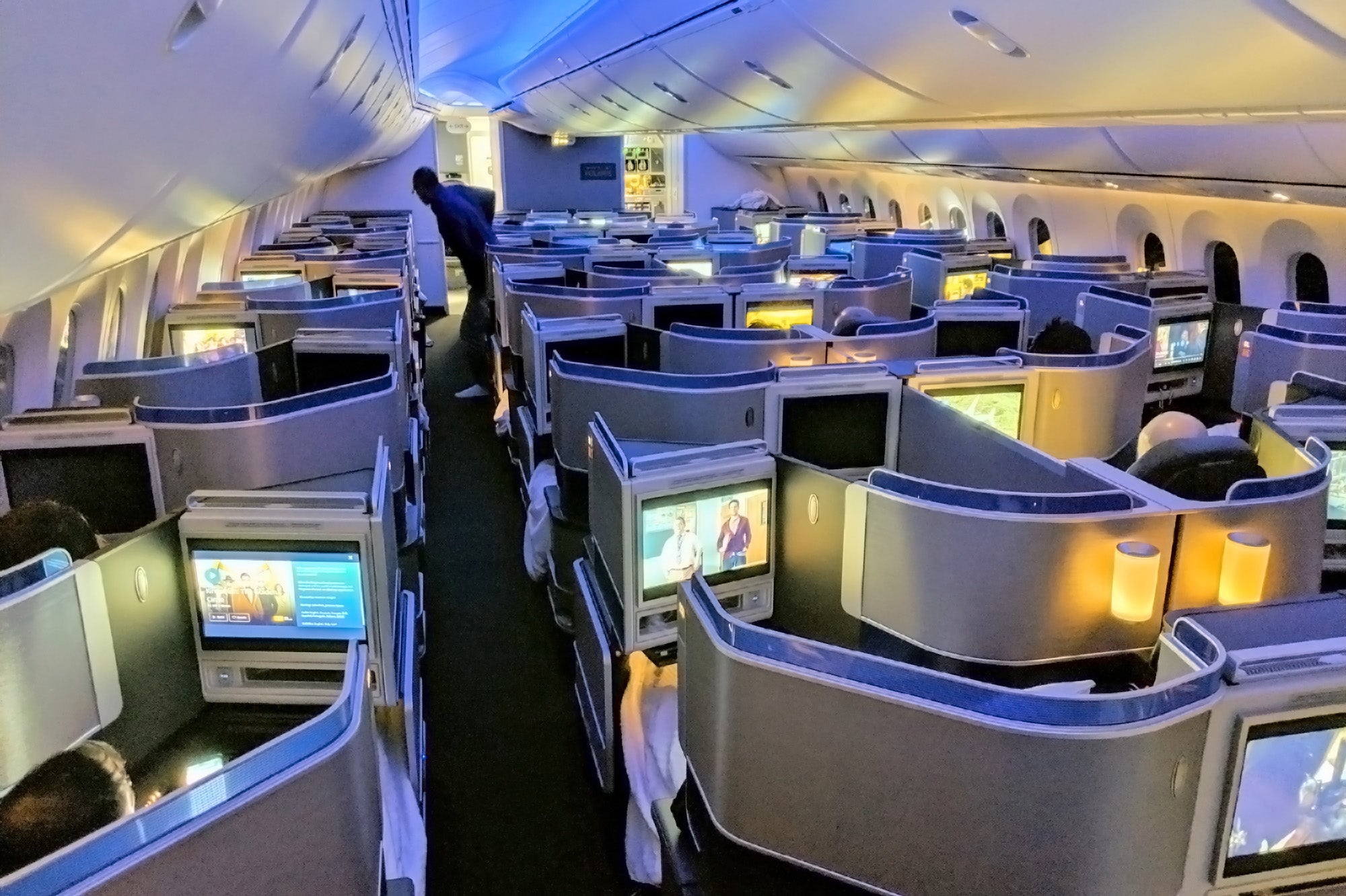 United's Polaris business class now uses the same fare codes as domestic first class. Photo by Zach Honig.