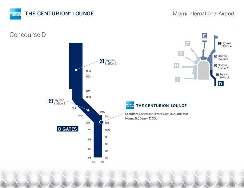 7 Centurion Lounges in 7 Days Miami MIA Review