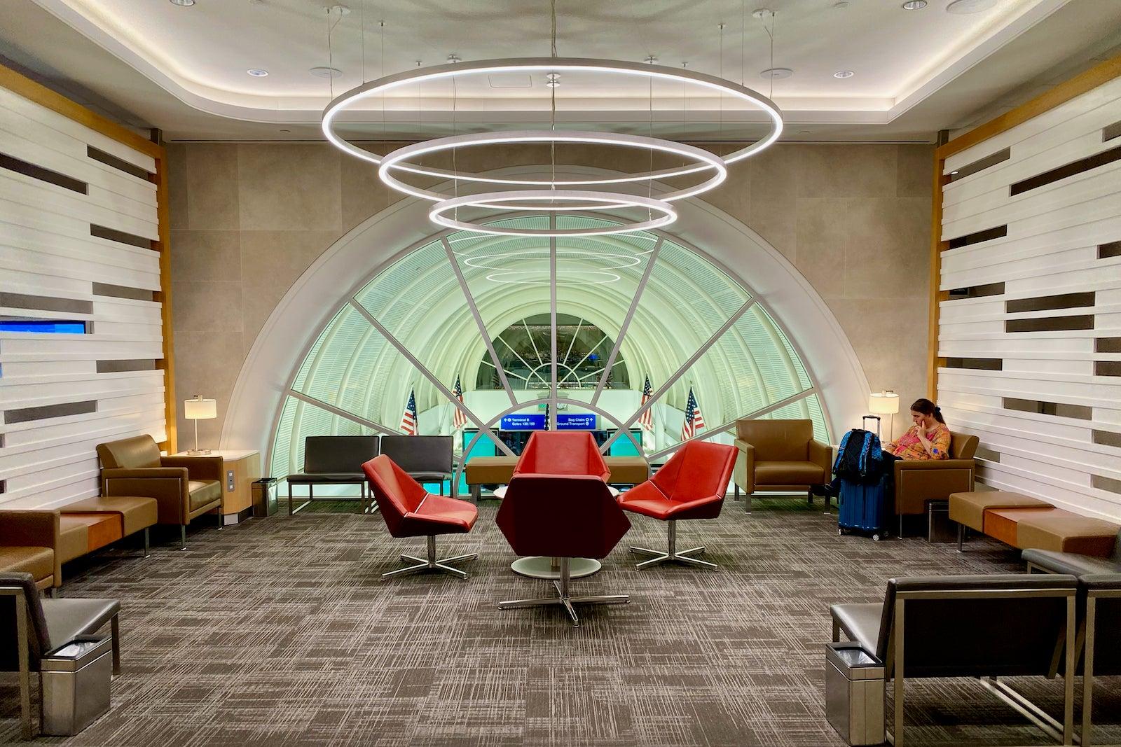 Flagship Lounge LAX area salotto
