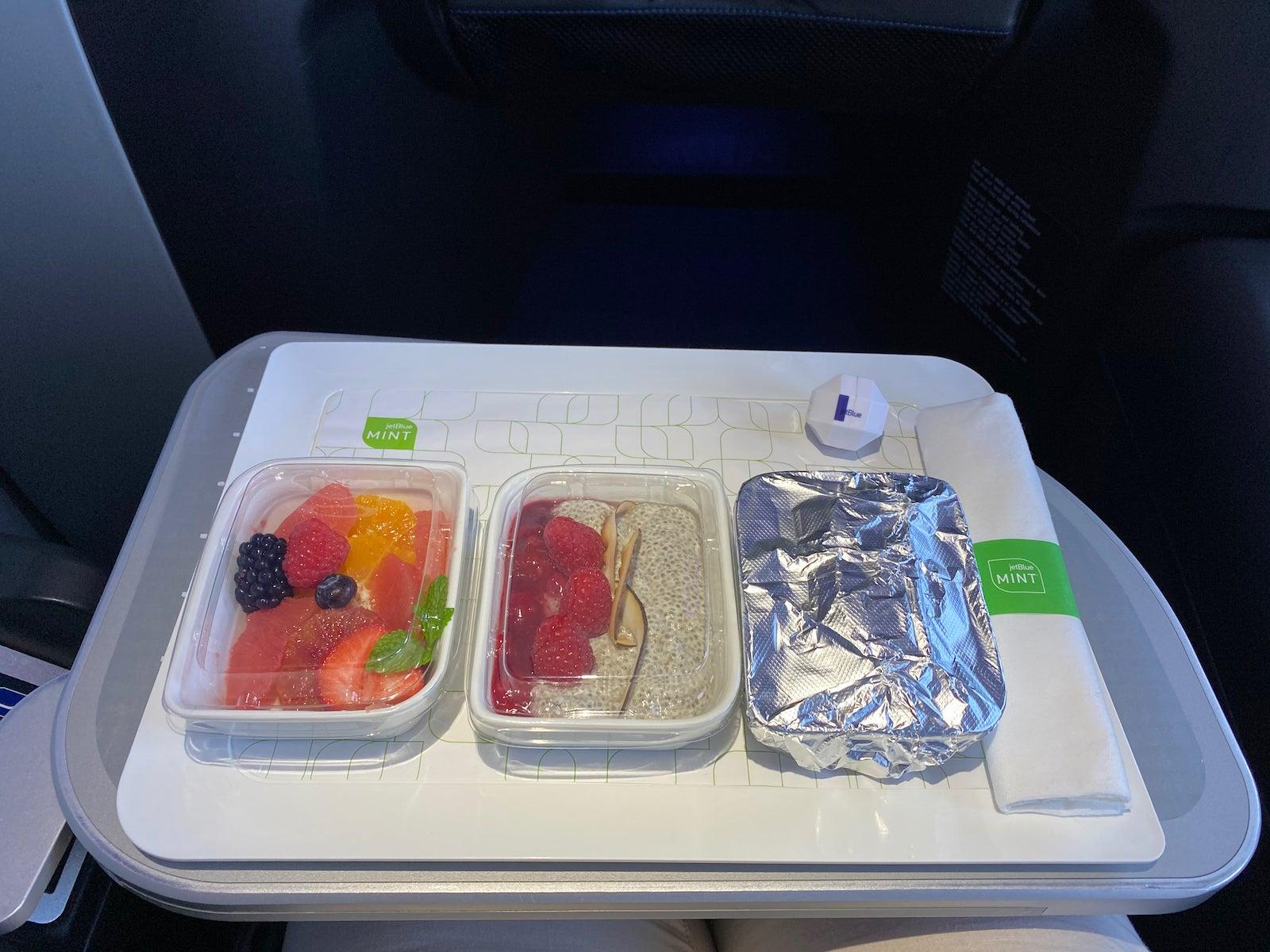 JetBlue Mint Breakfast