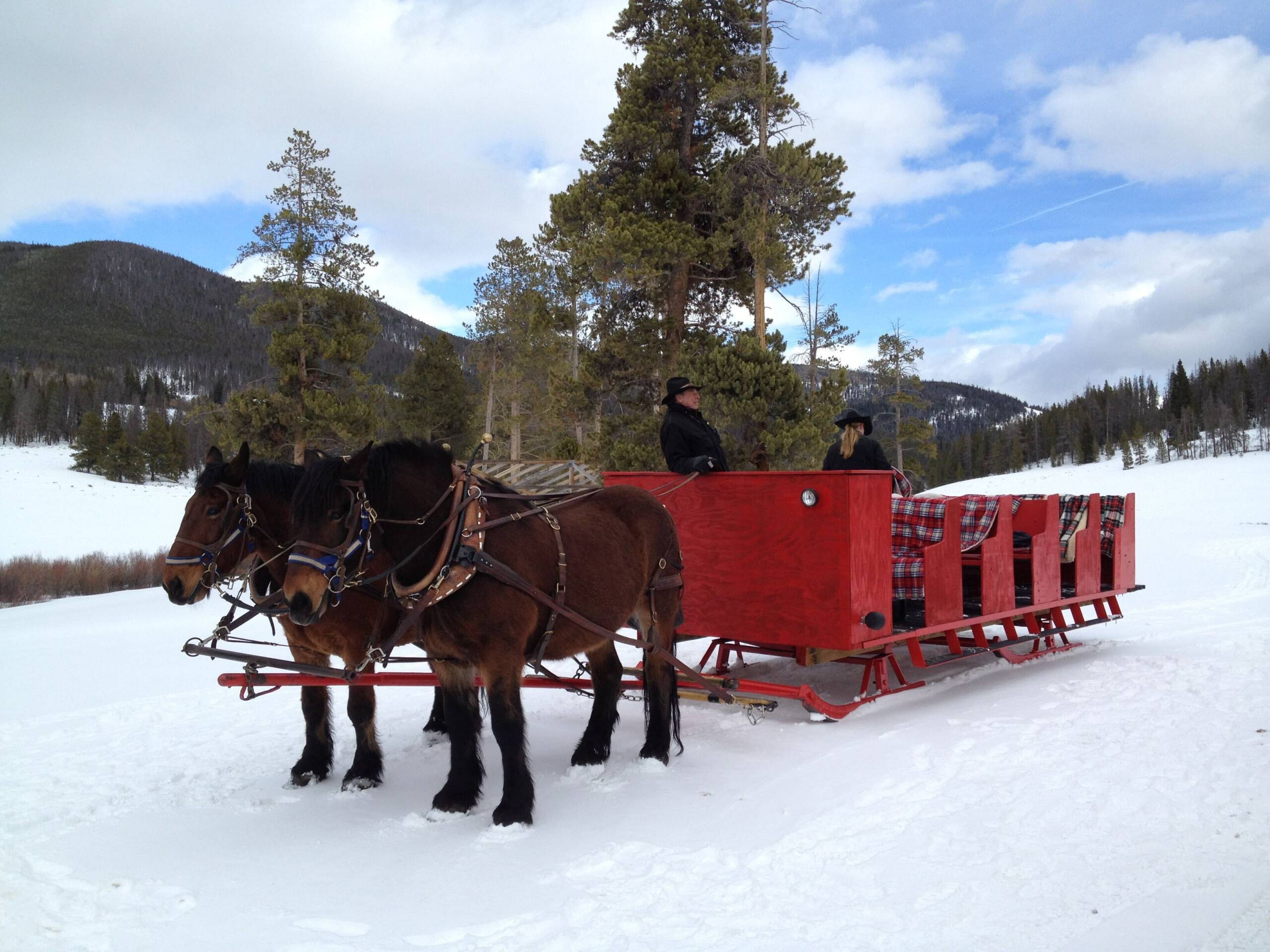 Sleigh ride to dinner at Keystone (Photo by Summer Hull/The Points Guy)